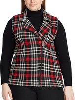Chaps Plus Size Plaid Sleeveless Sweater