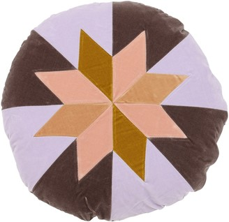 Christina Lundsteen STAR ROUND COTTON VELVET PILLOW