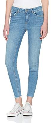 Pieces Women's Pcfive Delly B186 Mw Skn Cr JNS Lb/noos Skinny Jeans, Light Blue Denim, 10 UK/S