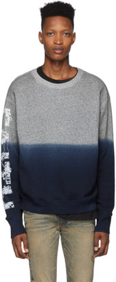 Faith Connexion Grey and Blue Degrade Sweatshirt