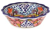 Set of Four Handcrafted Mexican Ceramic 10 oz Cereal Bowls, 'Floral Joy'