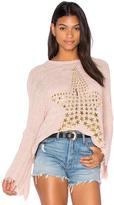Lauren Moshi Esme Fringe Bell Sleeve Sweater