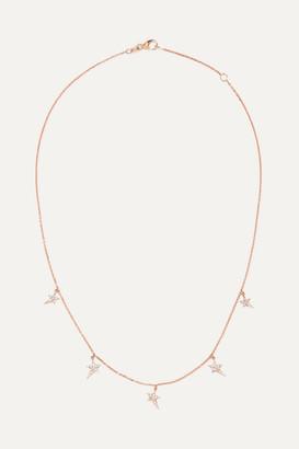 Diane Kordas Star 18-karat Rose Gold Diamond Necklace - one size