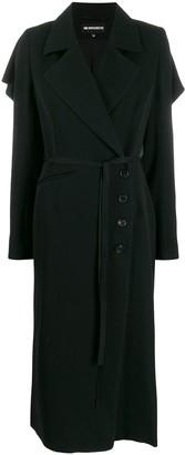 Ann Demeulemeester Oversized Frilled Long Coat