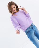 Miss Selfridge Lilac Crop Sweater