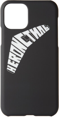 Heron Preston Black and White Logo iPhone 11 Case