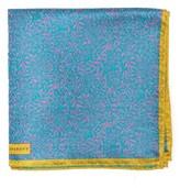 Robert Talbott Men's Floral Silk Pocket Square