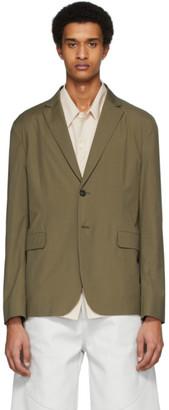 Acne Studios Green Poplin Suit Blazer