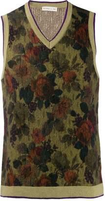 Etro floral-knit vest