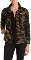 Jolt Embellished Camo Cargo Jacket (Juniors)