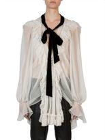 Chloé Long Sleeve V-Neck Blouse