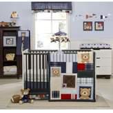 Kids Line Oxford Bear 4-Piece Crib Bedding Set - blue/green, one