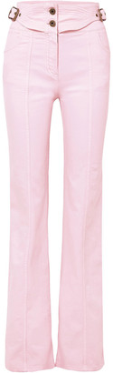 Chloé Buckled High-rise Flared Jeans