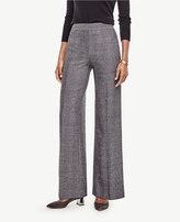 Ann Taylor Petite Herringbone High Waist Wide Leg Pants