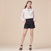 Maje Shorts with brocade print