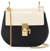 Chloé Drew Small Chain Shoulder Bag, Black/White