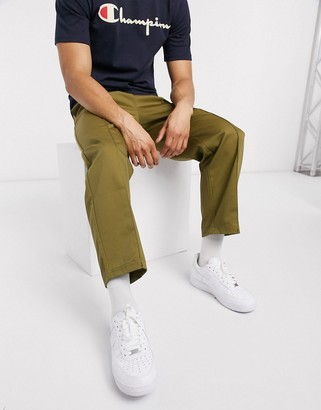 Champion straight hem cropped joggers in green