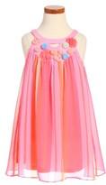 Truly Me Toddler Girl's Stripe Halter Dress