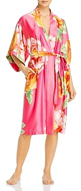 Natori Serafina Floral Print Wrap Robe