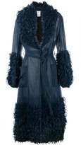Rosie Assoulin ruffle trimmed coat - women - Silk/Cotton - 4