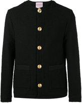 Palm Angels decorative button hooded jacket - men - Cotton/Spandex/Elastane/Viscose - 46