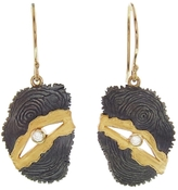 Jamie Joseph Oval Gold Joinery Drop Earrings