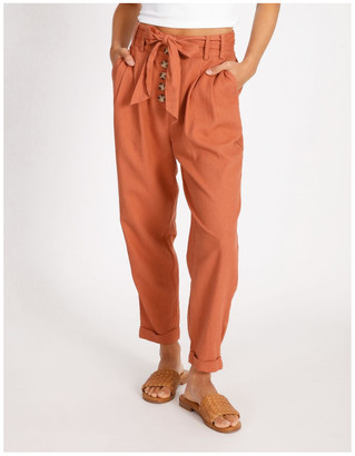 Miss Shop Tie Waist Front Pleated Pant Old