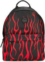 John Richmond Kids flames print backpack