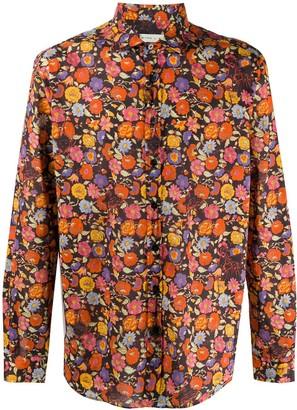 Etro Cotton Floral Print Shirt