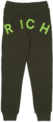John Richmond Logo Print Cotton Sweatpants