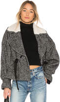Marissa Webb Annalise Herringbone Boucle Jacket