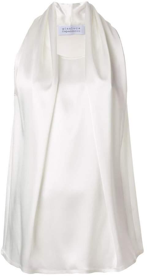Gianluca Capannolo draped sleeveless blouse