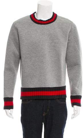 Gucci Wool-Trimmed Web Sweatshirt