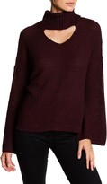 Amy Byer Chunky Cutout Gigi Turtleneck Sweater