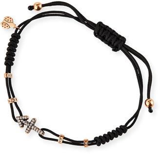 Pippo Perez 18k Pink Gold Diamond Sagittarius Pull-Cord Bracelet