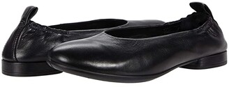 Ecco Anine Classic Ballet (Black Calf Leather) Women's Shoes