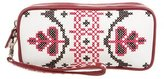 Isabella Fiore Embroidered Wristlet Clutch