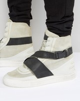 Religion Washed Lion Hi Top Trainers