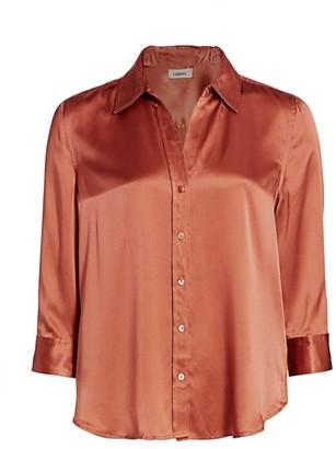 L'Agence Dani Silk Three-Quarter Sleeve Blouse