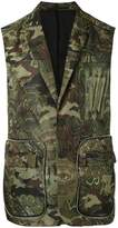 Givenchy camouflage printed gilet