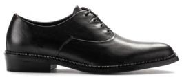 HUGO BOSS Oxford shoes in grained leather with metallic detail