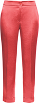Etro High-rise cigarette-leg satin trousers
