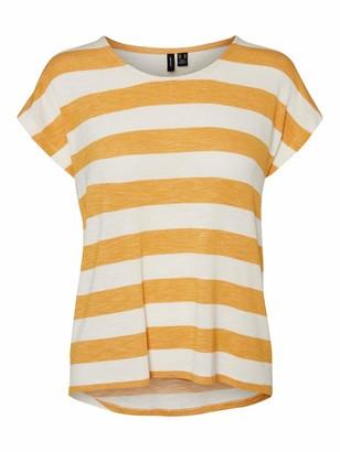 Vero Moda Women's Vmwide Stripe S/l Top Color T-Shirt