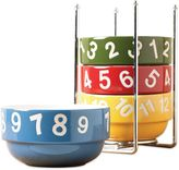 Tabletops Unlimited Numbers 5-Piece Stackable Bowl Set