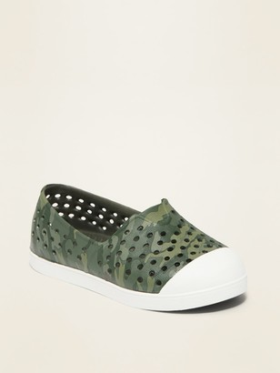 Old Navy Perforated Camo Slip-On Sneakers for Toddler Boys