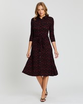 Dorothy Perkins Star Midi Jersey Shirt Dress