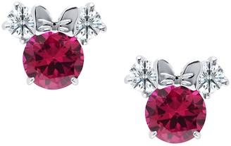 Disney Minnie Mouse Birthstone Earrings by CRISLU Platinum