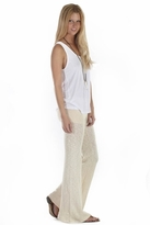 Nightcap Clothing Sweater Slub Flare Pants in Natural