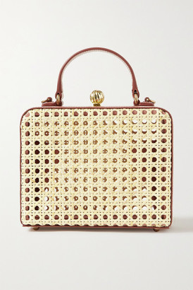 MEHRY MU Luna Leather And Rattan Tote - Neutral