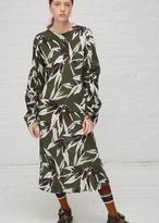 Marni dark olive tv l/s dress